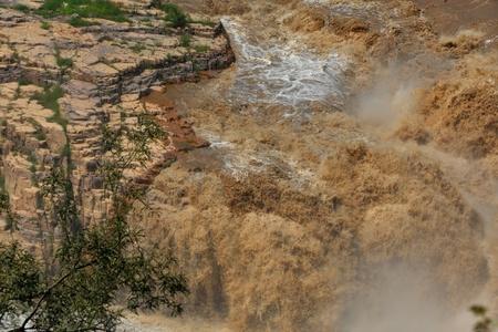 muddy: Muddy Zhang river Stock Photo