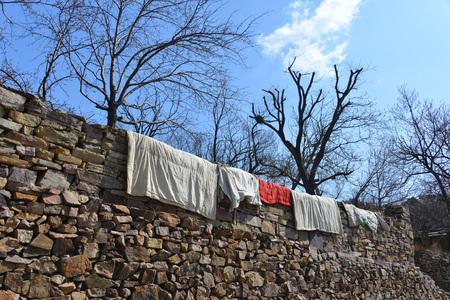 Taihang droogdekbed bergzon