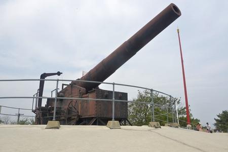 Cannon at Penglai Pavilion