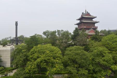 View of Penglai Pavilion