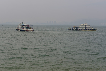 Ferries on the water