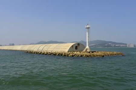 Breakwater at Liugong Island
