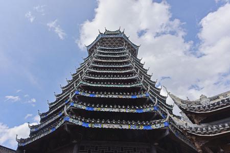 view of a pagoda Banco de Imagens