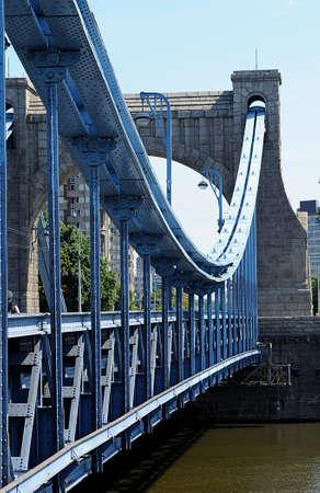 Bridge in Wroclaw Stock Photo