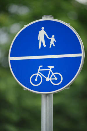 Route for pedestrians and bicycles