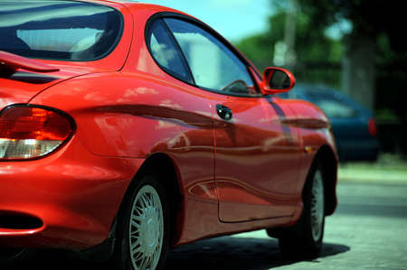 Car red sports car Stock Photo