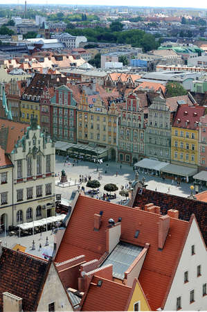 Wroclaw Old Town Imagens