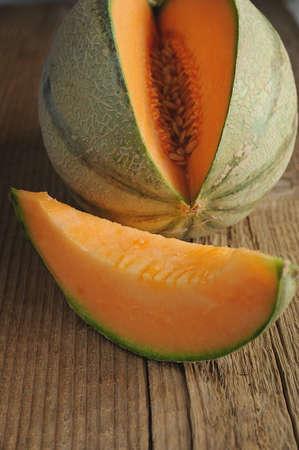 Fresh melon on the table