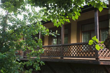 verandah: Summer verandah in trees in siberia