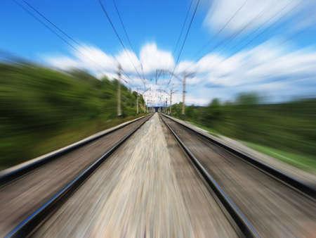 Railway. Motion blur.