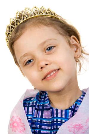 Little smiling princess Stock Photo