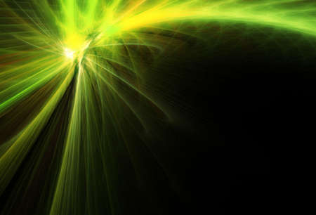 Green comet. Abstract illustration. Stock Photo