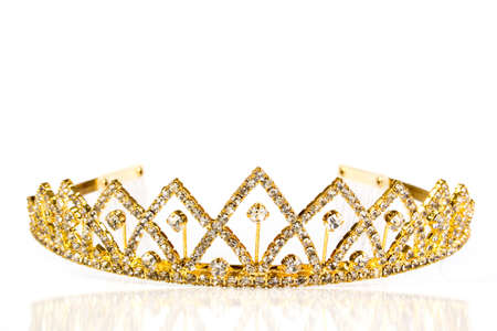 diamond shaped: Queen crown. Isolate on white background Stock Photo