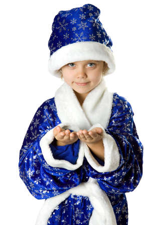 Little fun Santa. Isolate on white. photo