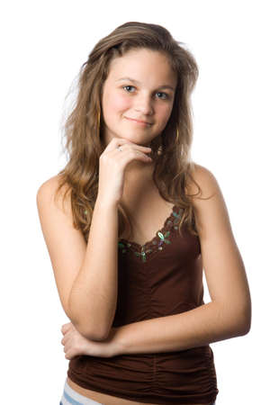 Portrait of beauty young girl photo