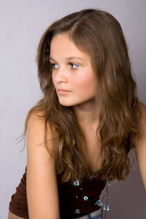 Portrait of young pretty girl photo