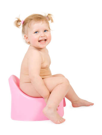 Pretty  and pink potty . Isolate on white