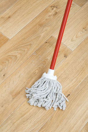 A red mop on floor Stock Photo - 4622137