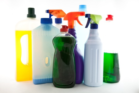 detergents: cleaning products Stock Photo