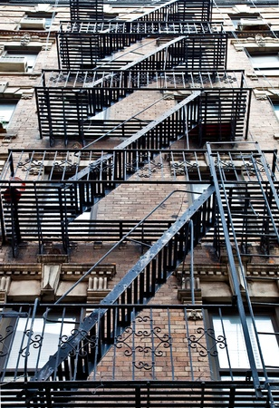 fire escape: ladder