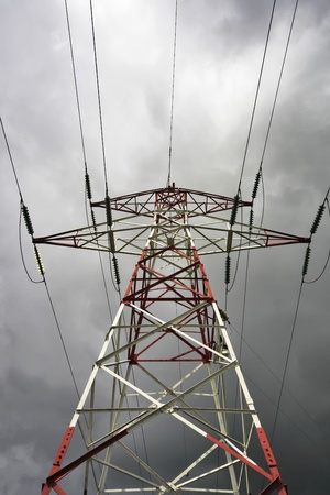 superconductor: electrical tower Stock Photo