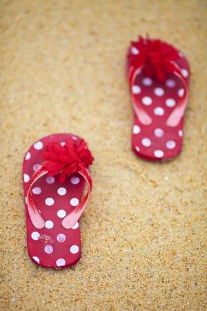 lunares rojos: playa