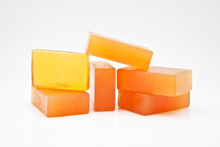 glycerin soap: six bars of glycerin soap Stock Photo