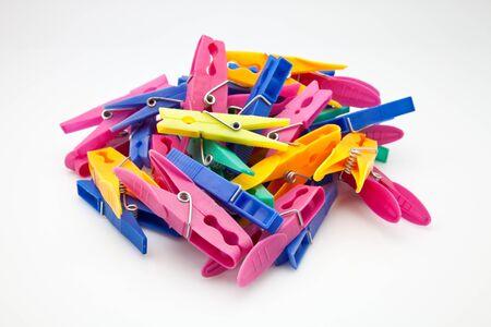 pincet gemaakt van plastic kleur Stockfoto