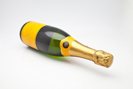 bottle of French champagne for celebrations Stock Photo