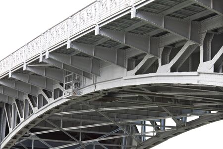 drawbridge structural supports of steel beams photo