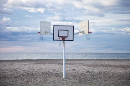 basketball hoops to play on the beach