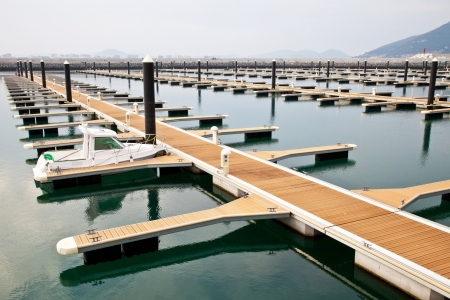 jetty for mooring boats and yachts Stock Photo - 13760095