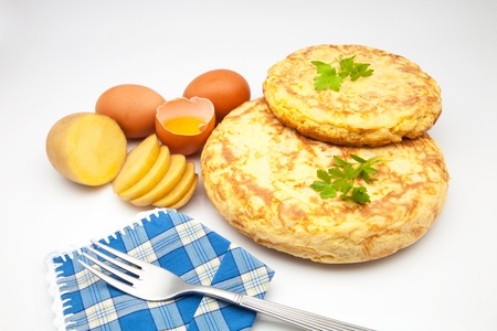 delightfully: Spanish omelette of natural ingredients
