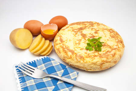 delightfully: potato omelette with its ingredients lists to eat