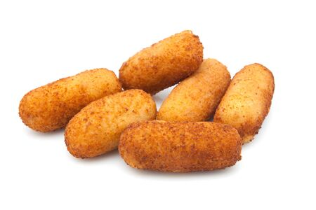 Croquettes filled with béchamel ready to eat photo
