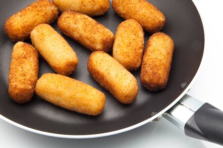 appetiser: Croquettes fried stuffed with meat Stock Photo