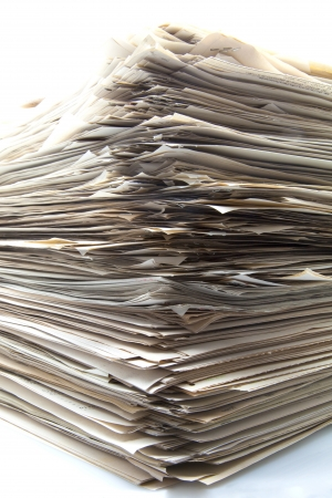 Stack of papers for office Stock Photo - 15032669