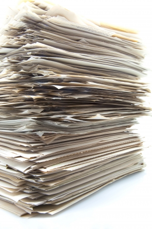piled up office work papers Stock Photo - 15032672