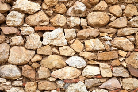 mud house: exterior wall of a stone house and mud