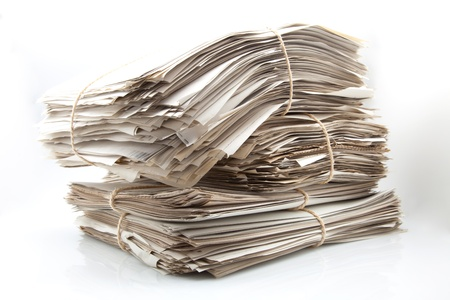 documents of backward work of office Stock Photo - 15459730