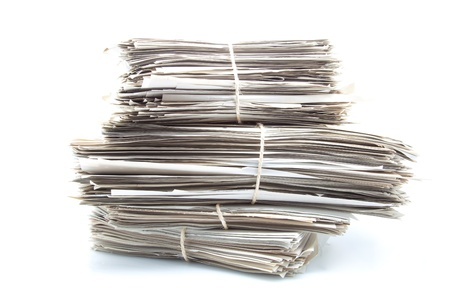 documents classified under bundles and tied with ropes Stock Photo - 15459721