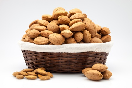 dry fruits: basket full of dry fruits Stock Photo