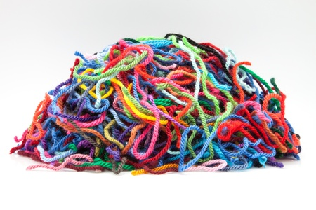 heap of woolen pieces of colors Stock Photo - 15845342