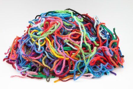 colors wool on white fund Stock Photo - 16401119