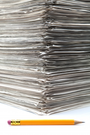 documents piled up on a white fund Stock Photo - 16566917