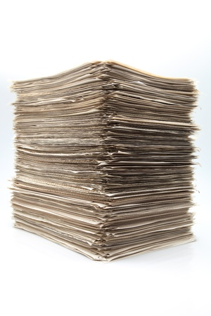 battery of sheets of role on white fund Stock Photo - 16566915
