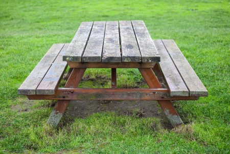 wooden table for the garden Stock Photo - 17454108