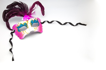funfair: carnival mask on white fund Stock Photo
