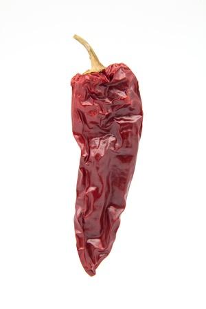 white fund: pepper wrinkled on white fund Stock Photo