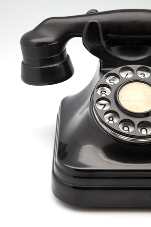 bakelite: phone retro bakelite fact on white fund